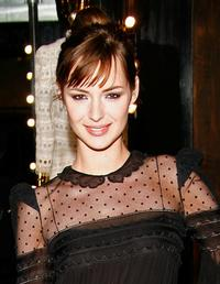 Louise Bourgoin at the Roberto Cavalli opening boutique party during the Paris Fashion Week ready-to-wear Autumn / Winter 2009.