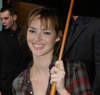 Louise Bourgoin at the Jean Paul Gaultier 09 Fall Winter Haute Couture fashion show during the Paris Fashion Week.