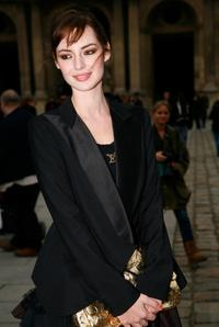 Louise Bourgoin at the Louis Vuitton Ready-to-Wear A/W 2009 fashion show during the Paris Fashion Week.