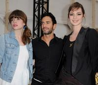 Cecile Cassel, Marc Jacobs and Louise Bourgoin at the Louis Vuitton Ready-to-Wear A/W 2009 fashion show during the Paris Fashion Week.