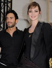 Marc Jacobs and Louise Bourgoin at the Louis Vuitton Ready-to-Wear A/W 2009 fashion show during the Paris Fashion Week.