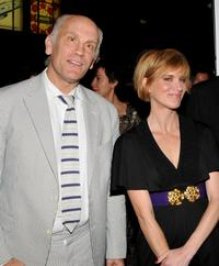 John Malkovich and Jessica Haines at the premiere of