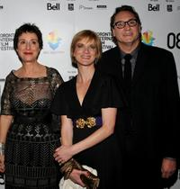 Anna Maria Monticelli, Jessica Haines and Steve Jacobs at the premiere of