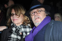 Nicole Garcia and Jean-Michel Ribes at the Sonia Rykiel Ready to Wear Autumn/Winter 2011/2012 show during the Paris Fashion Week.