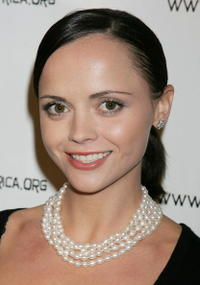 Christina Ricci at Desmond Tutu's 75 birthday gala fundraiser,