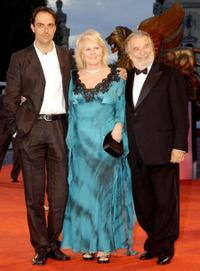 Neri Marcore, Katia Ricciarelli and Director Pupi Avati at the premiere of