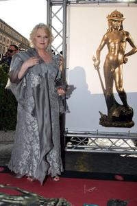Katia Ricciarelli at the Italian Movie Awards.