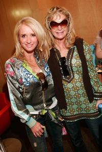Kim Richards and her sister Kathy Hilton at the 2006 Diamond Lounge.