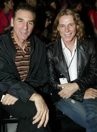 Michael Richards and George Boldwell at the Susana Mercedes fashion show during the Mercedes Benz Fashion Week.