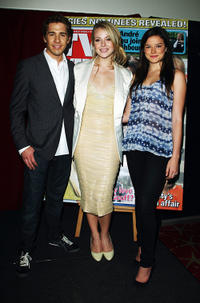 Hugh Sheridan, Jessica Marais and Hanna Mangan-Lawrence at the 51st TV Week Logies 2009 in Sydney.