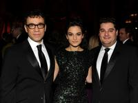 Fred Armisen, Jenny Slate and Bobby Moynihan at the American Museum Of Natural History Hosts The Museum Gala.