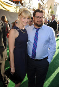 Beth Behrs and Bobby Moynihan at the California premiere of