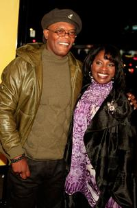 Samuel L. Jackson and La Tanya Richardson at the premiere of