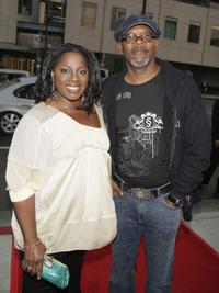 La Tanya Richardson and her husband Samuel L. Jackson at the premiere of