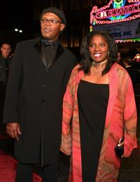 Samuel L. Jackson and his wife La Tanya Richardson at the Muhammad Alis 60th Birthday Celebration.