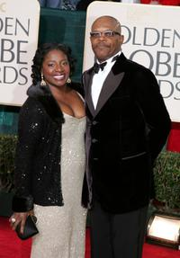 La Tanya Richardson and Samuel L. Jackson at the 62nd Annual Golden Globe Awards.