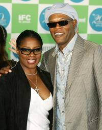 La Tanya Richardson and Samuel L. Jackson at the 20th IFP Independent Spirit Awards.