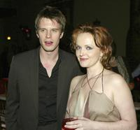 Miranda Richardson and Luke Mably at the premiere of