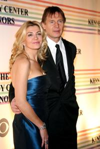Natasha Richardson and Liam Neeson at The 29th Annual Kennedy Center Honors.