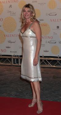 Natasha Richardson at the Valentino In Rome 45 Years of Style post-exhibit gala dinner.