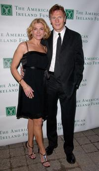 Natasha Richardson and Liam Neeson at the American Ireland Fund's 33rd Annual New York Gala Fundraiser.