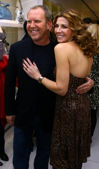 Natasha Richardson and Michael Kors at the Michael Kors store opening.