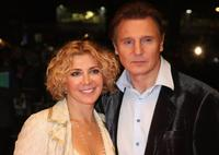 Natasha Richardson and Liam Neeson at the BFI 52 London Film Festival premiere of