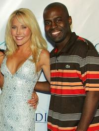 Mercedes McNab and Deon Richmond at the party of the Las Vegas opening night of