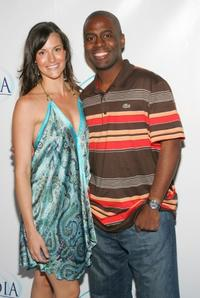 Rileah Vanderbilt and Deon Richmond at the party of the Las Vegas opening night of