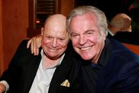 Don Rickles and Richard Wagner at the Hollywood Reporter reception saluting Don Rickles and John Landis.