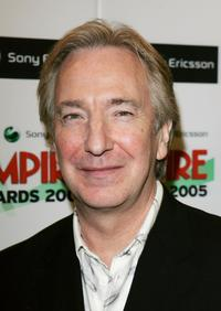 Alan Rickman at the pressroom at the Sony Ericsson Empire Film Awards.