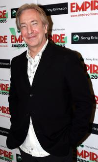 Alan Rickman at the Sony Ericsson Empire Film Awards 2005.