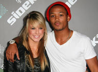 Dancer Chelsie Hightower and Romeo Miller at the T-Mobile Sidekick 4G Launch event in California.