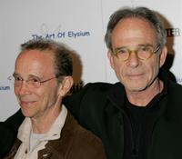 Ron Rifkin and Joel Gray at the West Coast opening of works by artist Russel Young entitled