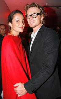 Rebecca Rigg and Simon Baker at the 2005 Lexus Inside Film Awards.