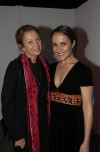 Mary Simmonds and Rebecca Riggat the opening night of Drama Theater in Sydney.