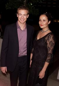 Simon Baker and Rebecca Rigg at the premiere of