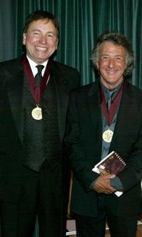 John Ritter and Dustin Hoffman at the Music Center's Distinguished Artist Awards 2003 Gala.