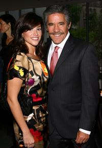 Erica Levy and Geraldo Rivera at the celebration of network television.