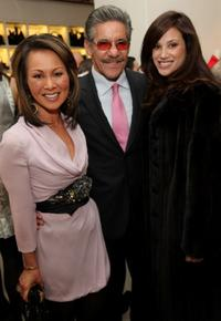 Alina Cho, Geraldo Rivera and Erica Levy at the New Yorkers for Children reception hosted by Vogue.