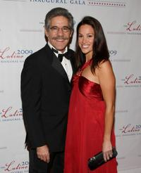 Geraldo Rivera and Erica Levy at the Latino inaugural gala