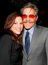Erica Levy and Geraldo Rivera at the William Morris Agency Upfront party.