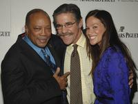 Quincy Jones, Geraldo Rivera and Erica Levy at the Foundation Q Prize Awards.
