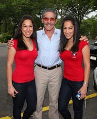 Lulu, Geraldo Rivera and Lala at the Walk for HOPE with Celia Cruz Foundation and Geraldo Rivera.