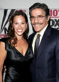 Erica Levy and Geraldo Rivera at the Fox News Channel 10th Anniversary celebration.