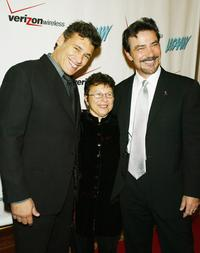 Steven Bauer, Patricia Giggins and Victor Rivers at the Los Angeles Commission on Assaults Against Women's 33rd Annual Humanitarian Awards.