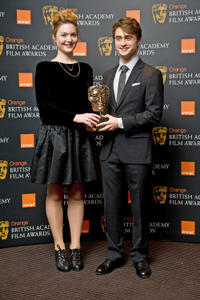 Holly Grainger and Daniel Radcliffe at the nominations announcement of Orange British Academy Film Awards 2012 in London.