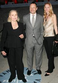 Lauren Bacall, Sam Robards and Sidsel at the Vanity Fair 2007 Tribeca Film Festival party.