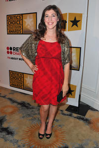 Mayim Bialik at the Critics' Choice Television Awards in California.