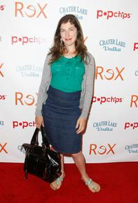 Mayim Bialik at the premiere of